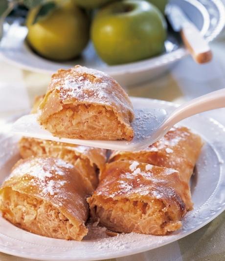 Apfel-Vanille-Strudel