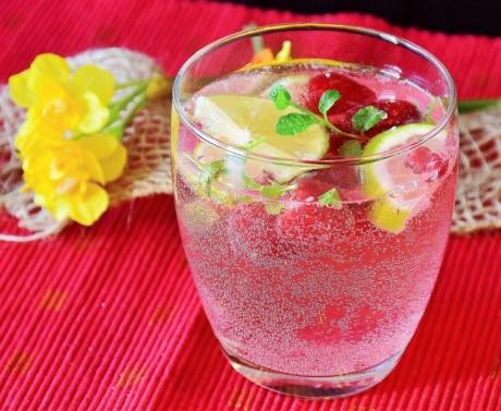 Himbeer-Zitronen-Wasser