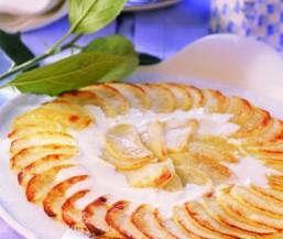 Apfel-Flammkuchen