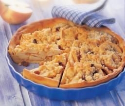 Apfel-Streuselkuchen; Germteig